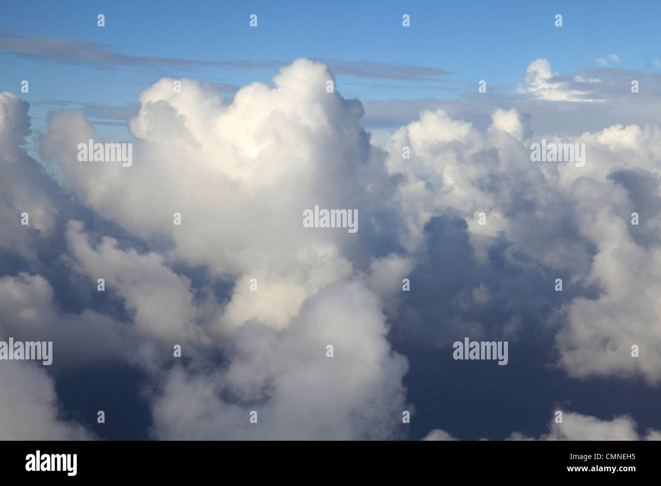 Clouds taken from an Aircraft - Stock Image