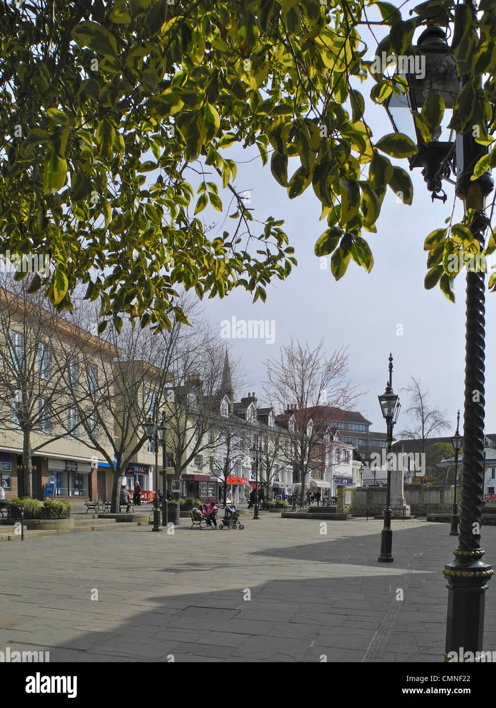 Horsham in West Sussex. This is The Carfax. - Stock Image