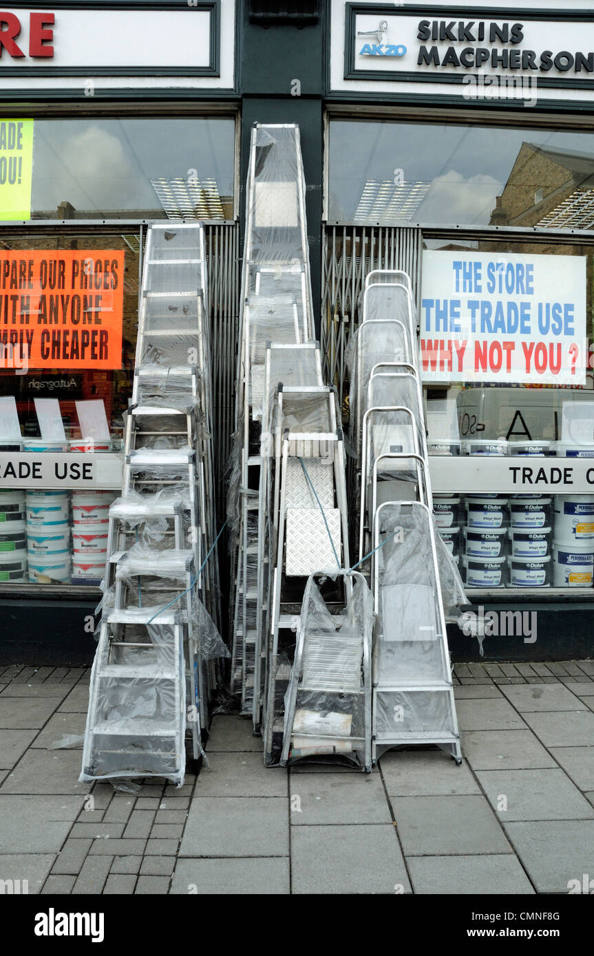 Do it yourself holloway road stock photos do it yourself holloway ladders for sale outside diy shop holloway road archway london england uk stock image solutioingenieria Gallery