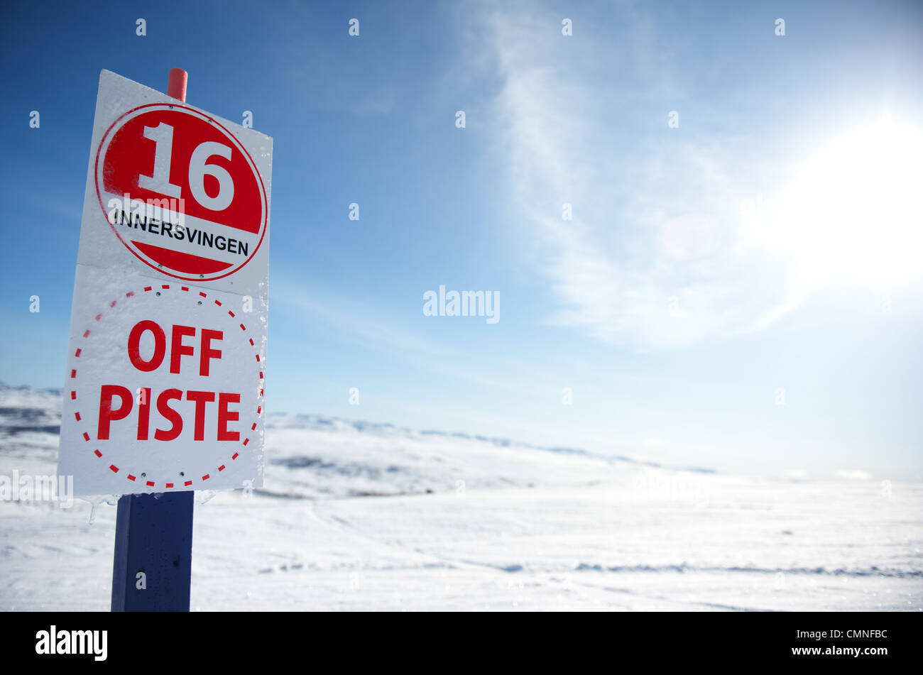 Off piste skiing is great at the Hovden skisenter in Setesday, southern Norway - Stock Image