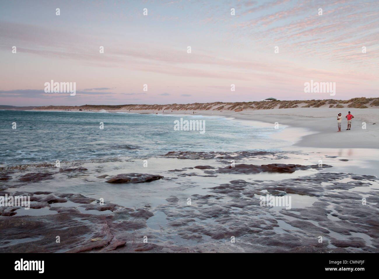 Sunset at Red Bluff Beach, Kalbarri, Western Australia - Stock Image