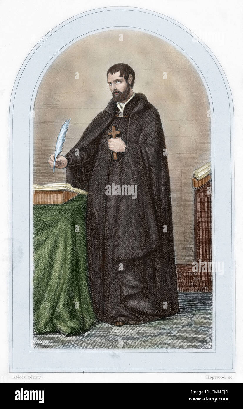 Ignatius of Loyola (1491-1556). Spanish knight from a Basque noble family, hermit, priest since 1537, and theologian. - Stock Image