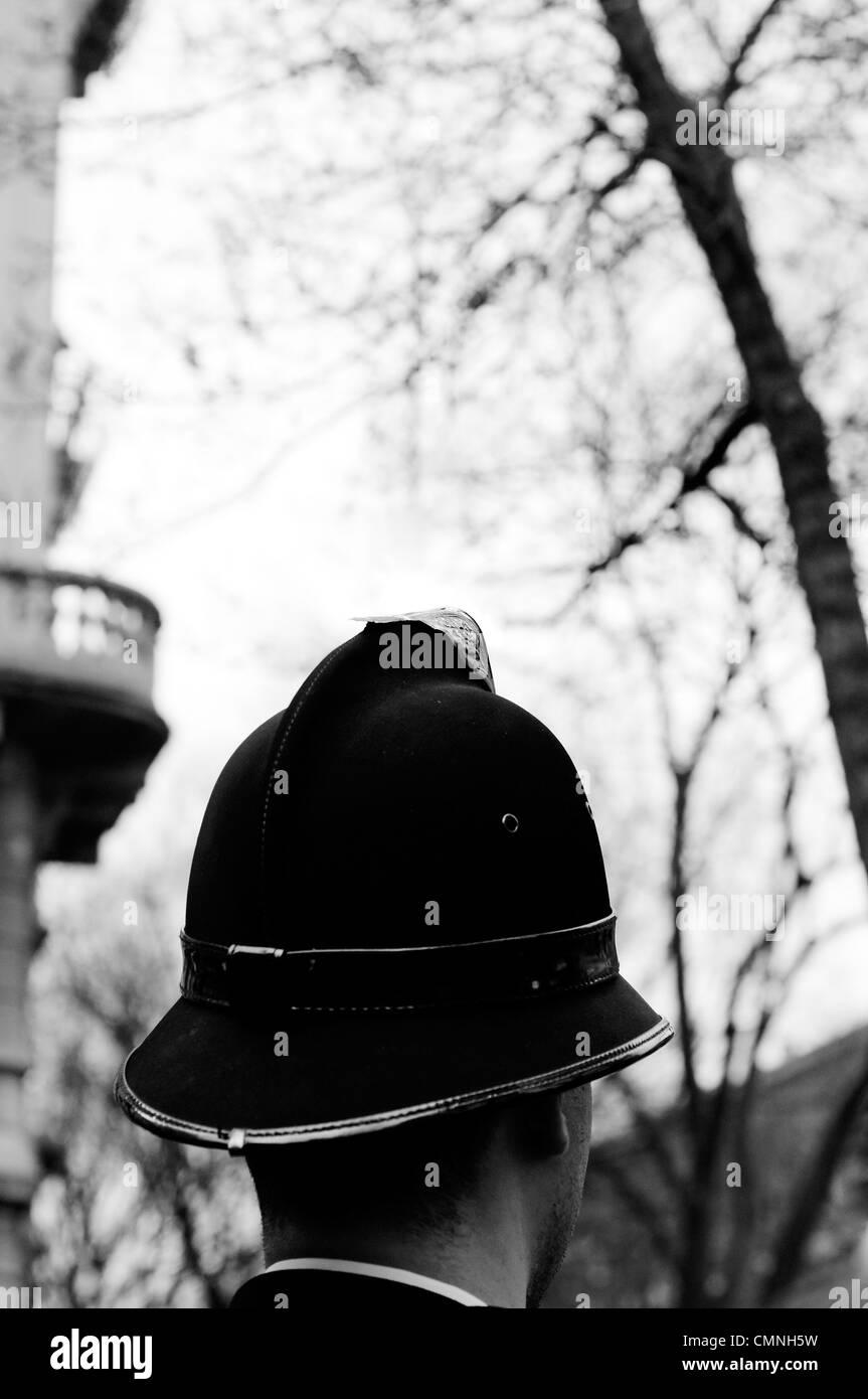 Cop helmet - Stock Image