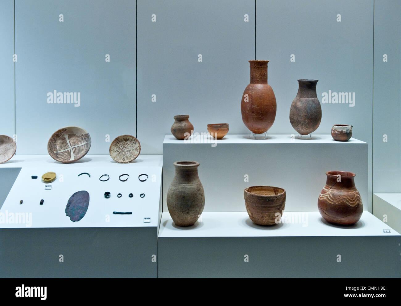Asia Saudi Arabia Riyadh The National museum archaeological remains