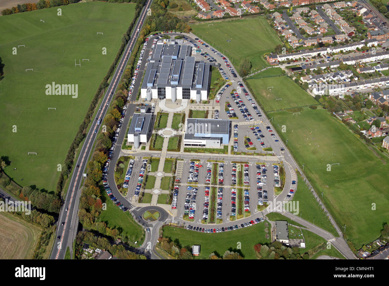 Aerial view of New College Durham - Stock Image