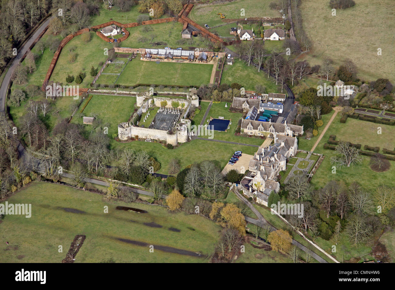 Aerial view of Oundle, Northamptonshire - Stock Image
