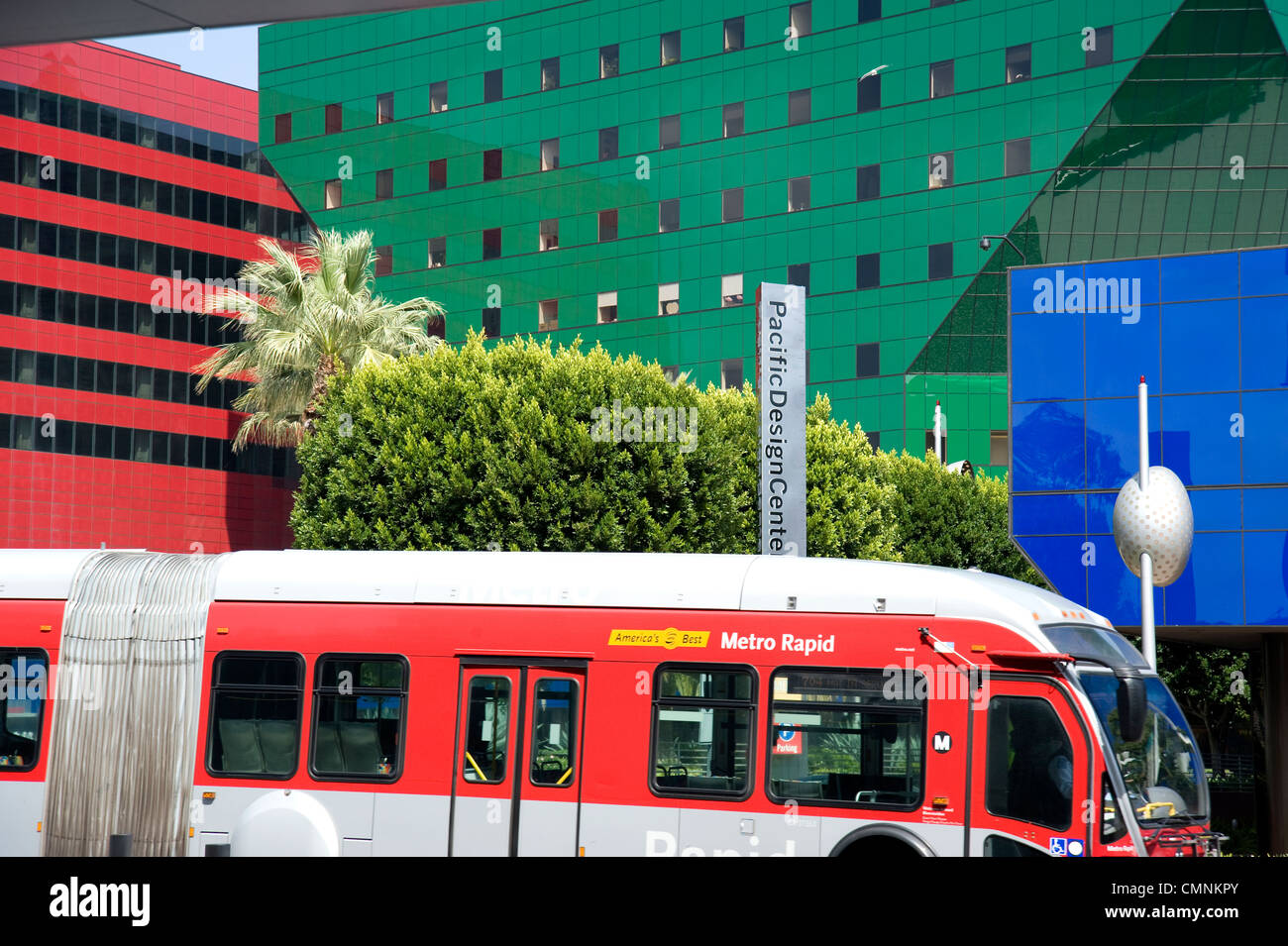 The Pacific Design Center complex in West Hollywood, CA Stock Photo