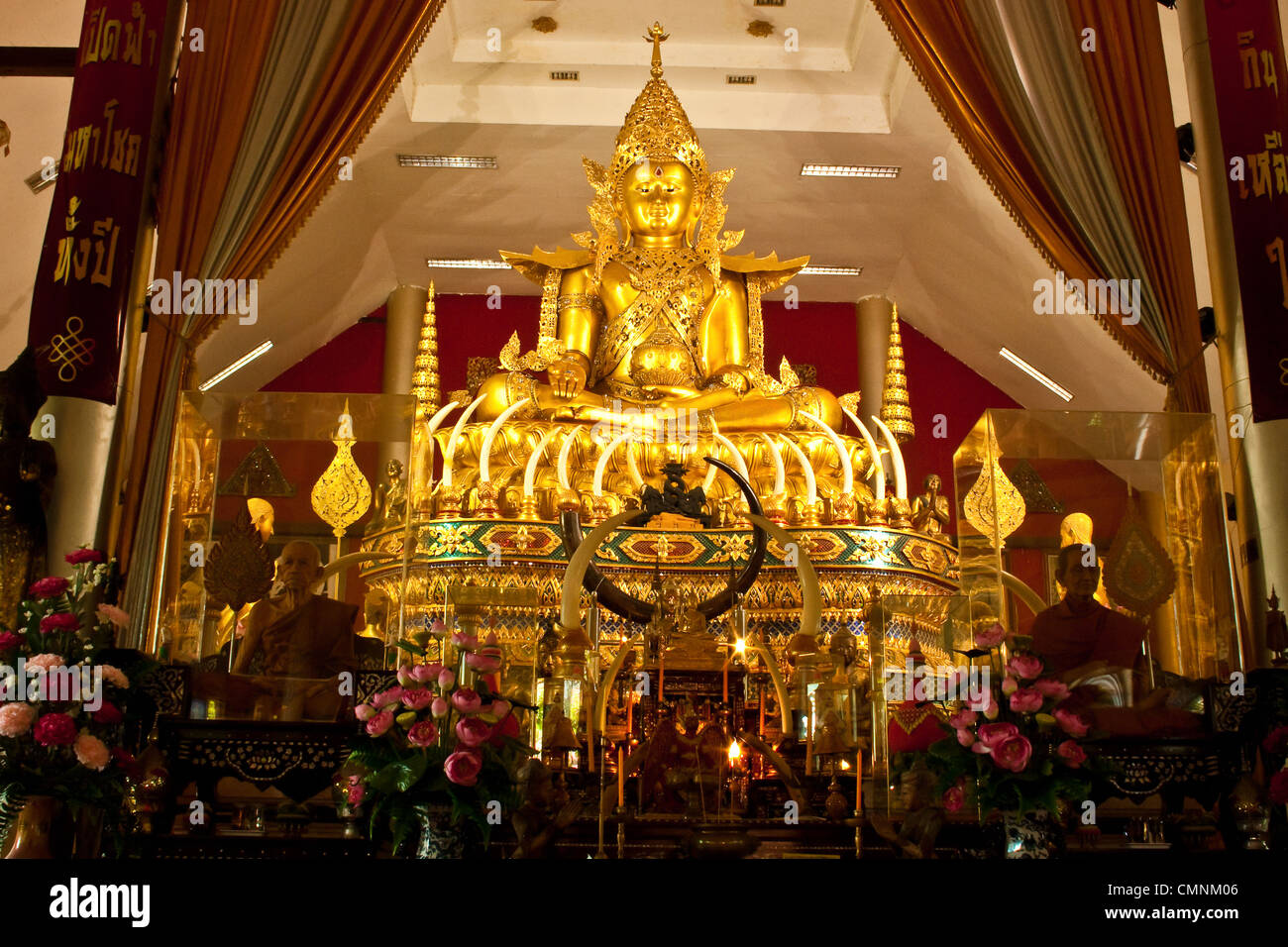 Statue of Buddha in Thailand - Stock Image