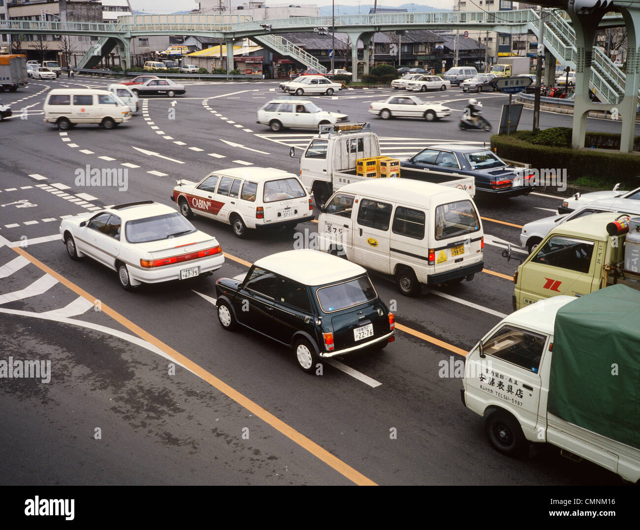 Japan Kyoto Traffic Rover Mini Cooper Stock Photo 47190562 Alamy