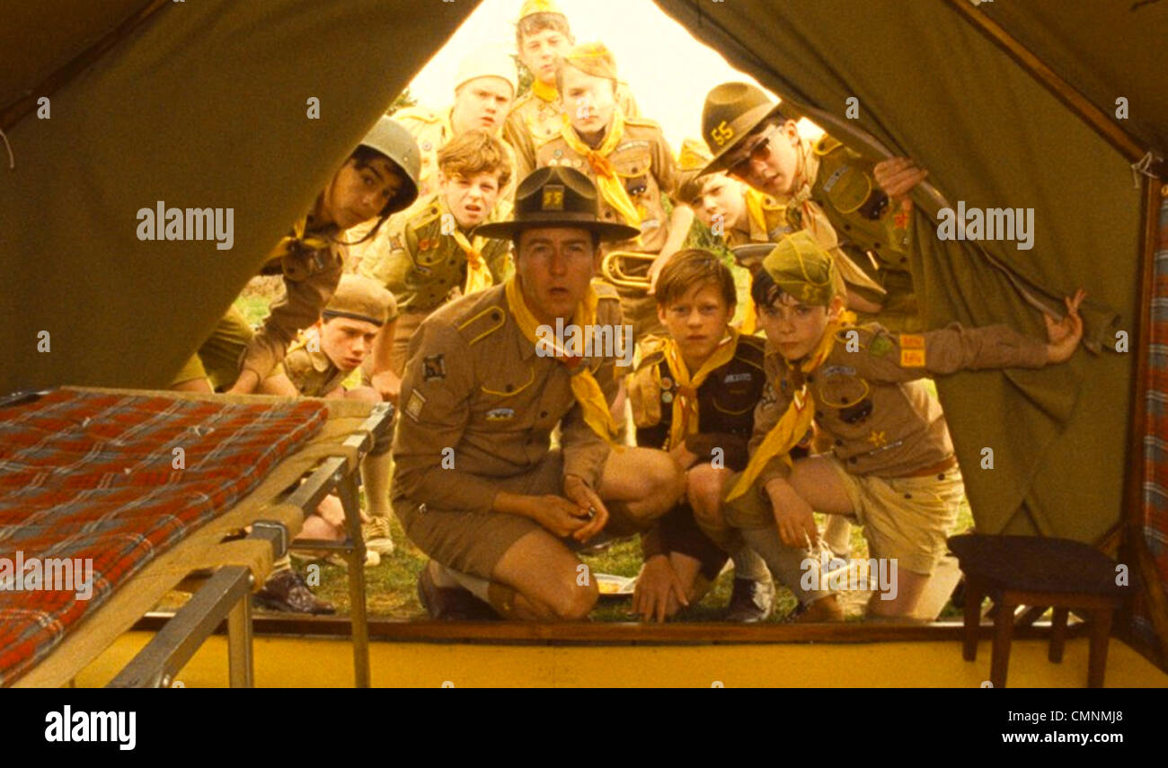 MOONRISE KINGDOM 2012 Focus Features film with Edward Norton - Stock Image