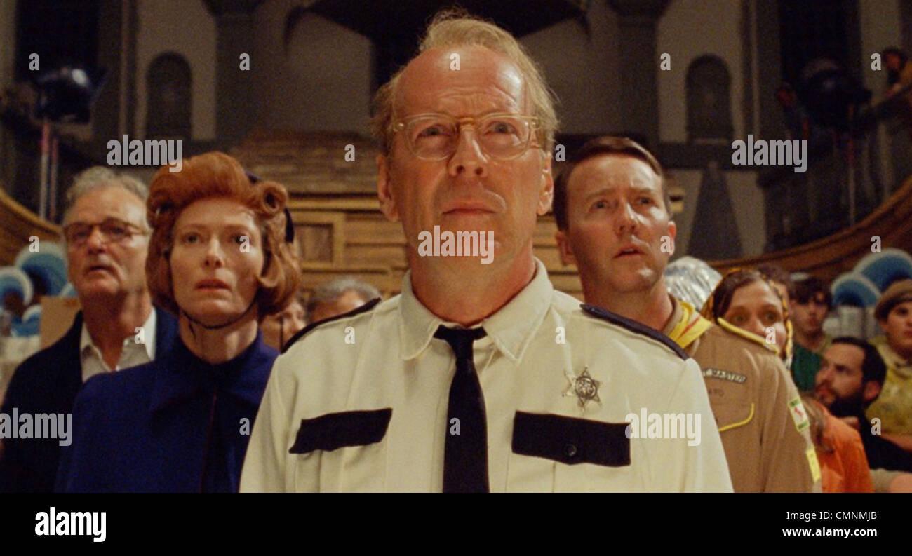 MOONRISE KINGDOM 2012 Focus Features film with Bruce Willis - Stock Image