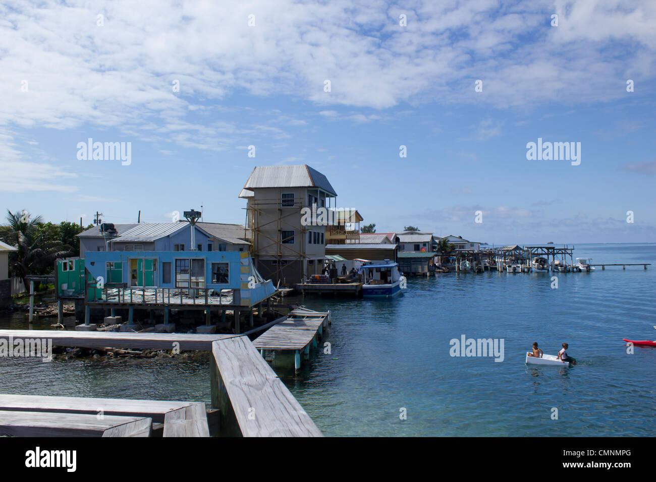 Jewel Cay, Utila Honduras - Stock Image