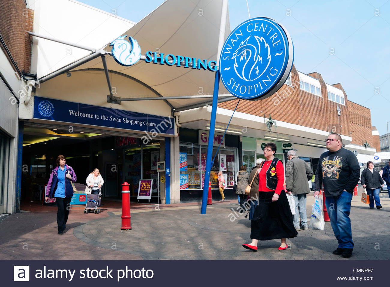 The Swan shopping centre in Kidderminster town center, UK. - Stock Image
