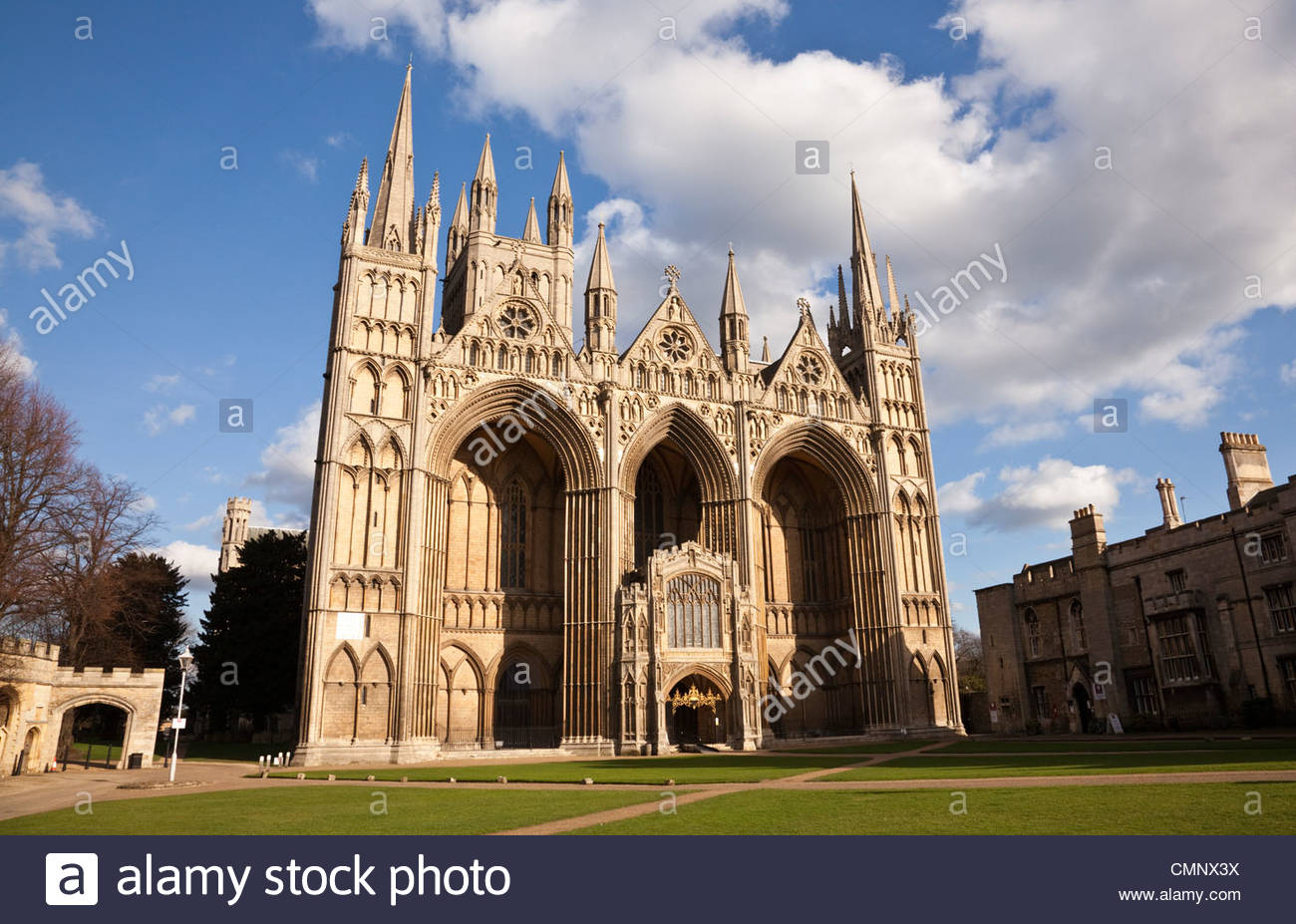 Peterborough Cathedral, Cambridgeshire, England - Stock Image