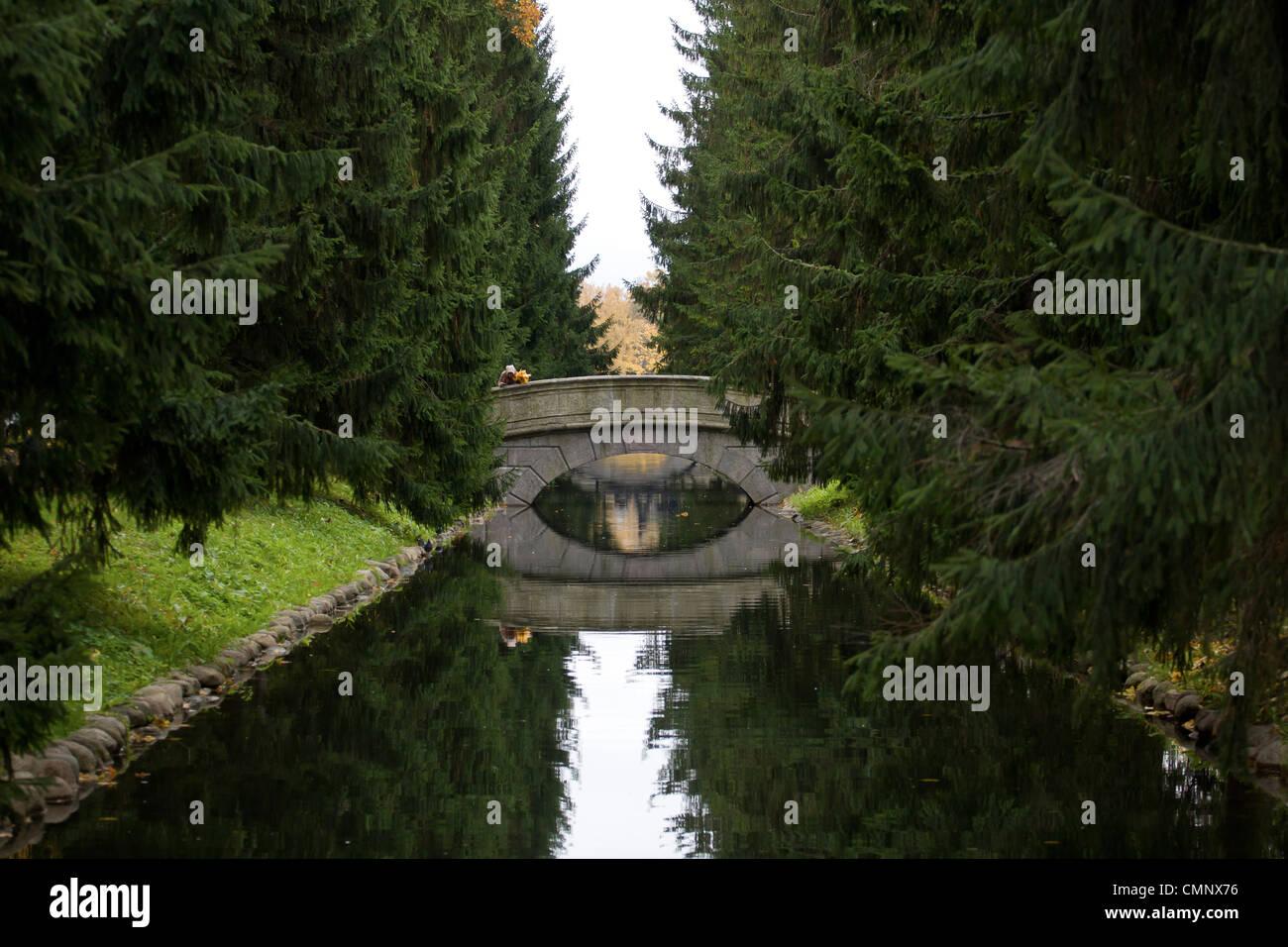 The Catherine Park, Tsarskoye Selo, Pushkin, near St. Petersburg, Russia, Europe - Stock Image