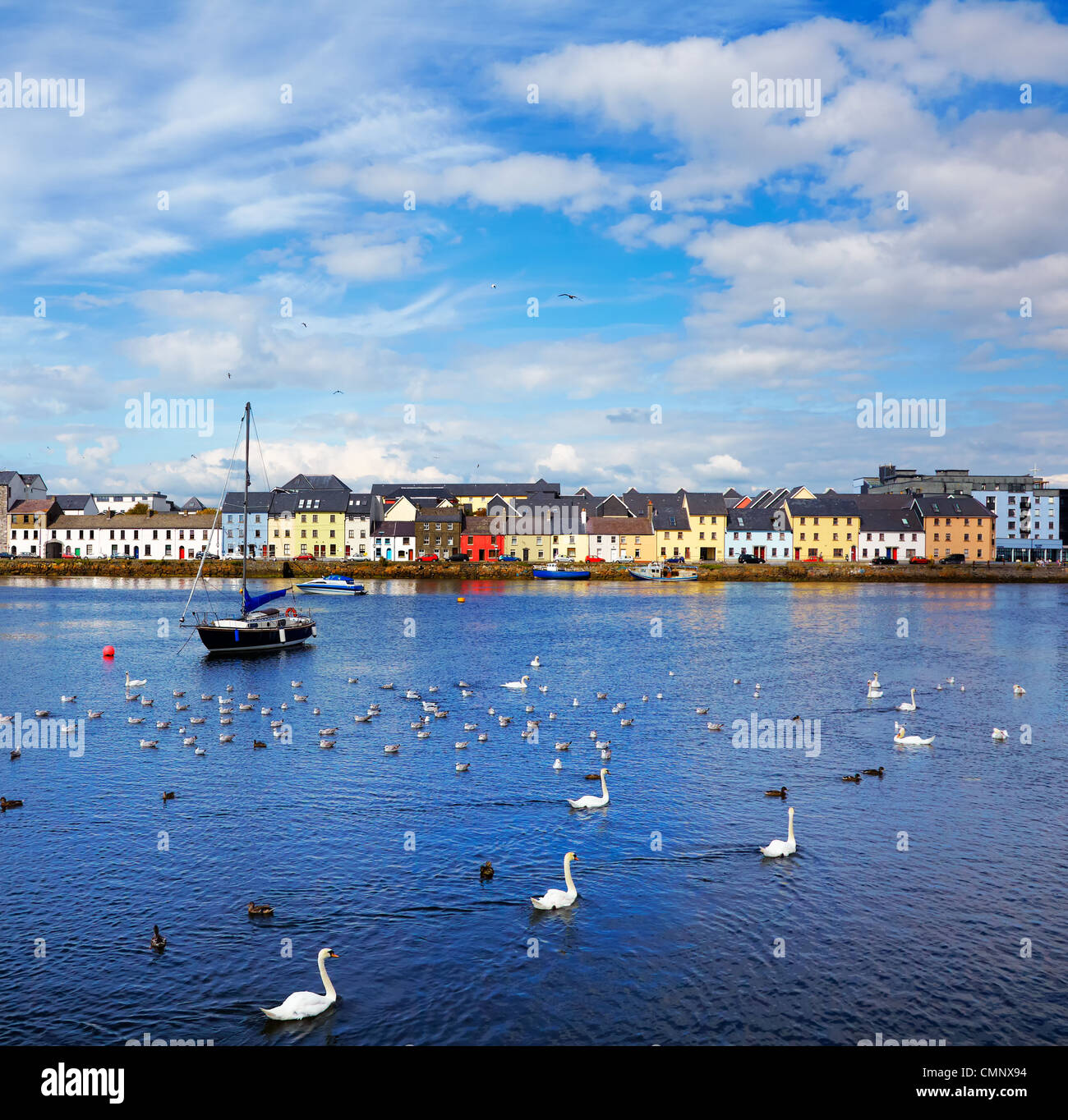 The Claddagh in Galway city during summertime, Ireland. - Stock Image