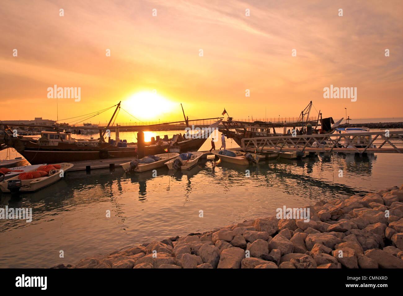 fisher kuwait  boat - Stock Image