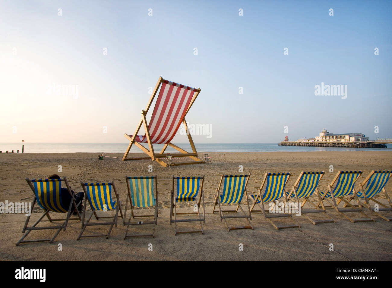Giant Deckchair On Bournemouth Beach Commissioned By Pimmu0027s To Mark The  Start Of British Summer Time