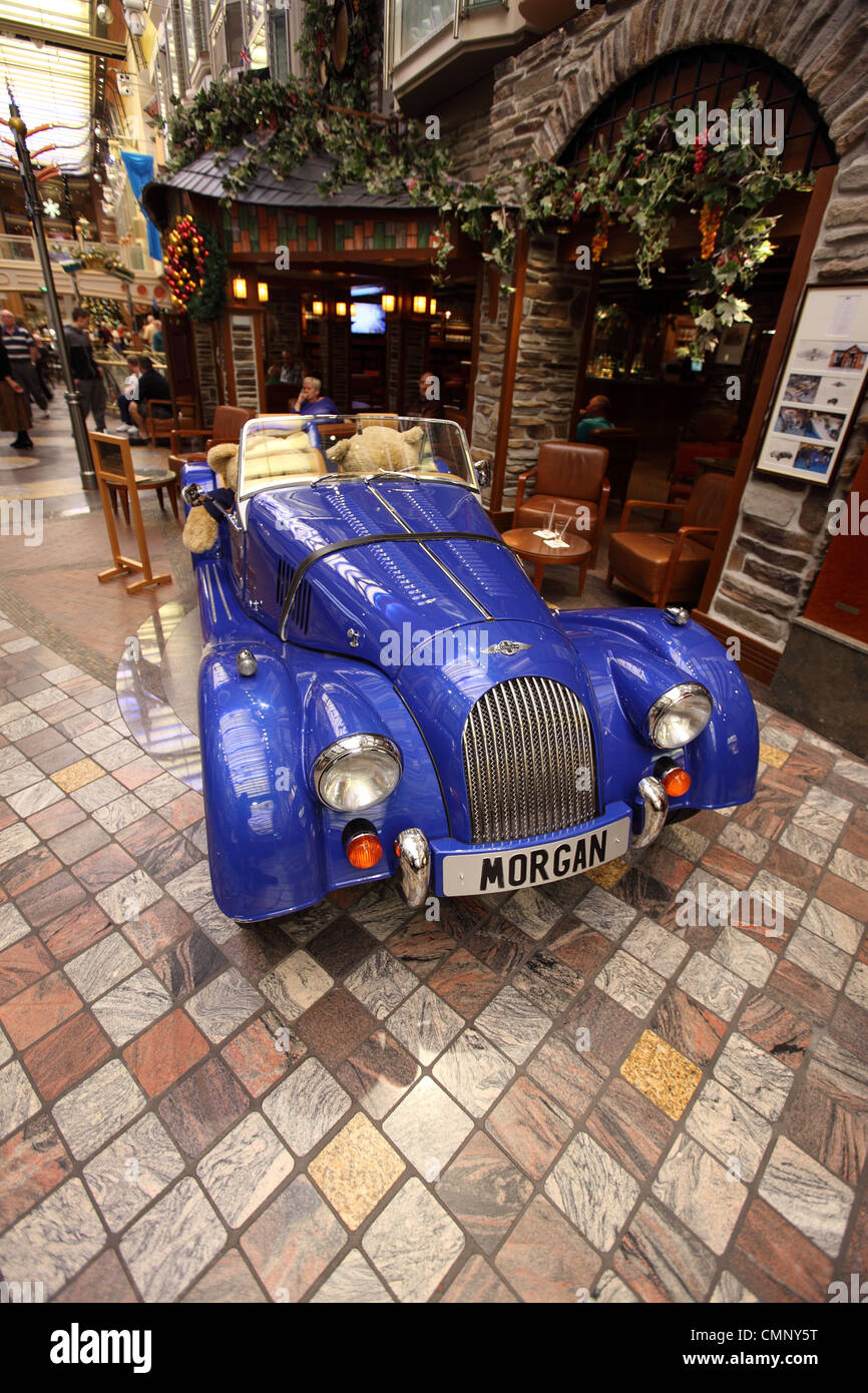 Morgan car seen on large cruise liner, independence of the seas, Royal Caribbean lines - Stock Image