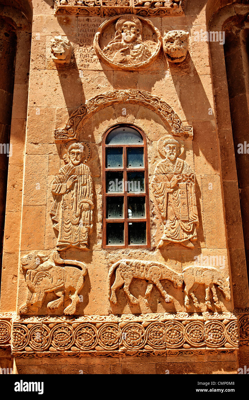 Armenian religious sculpture, Akdamar Cathedral of the Holy Cross, Lake Van Turkey - Stock Image