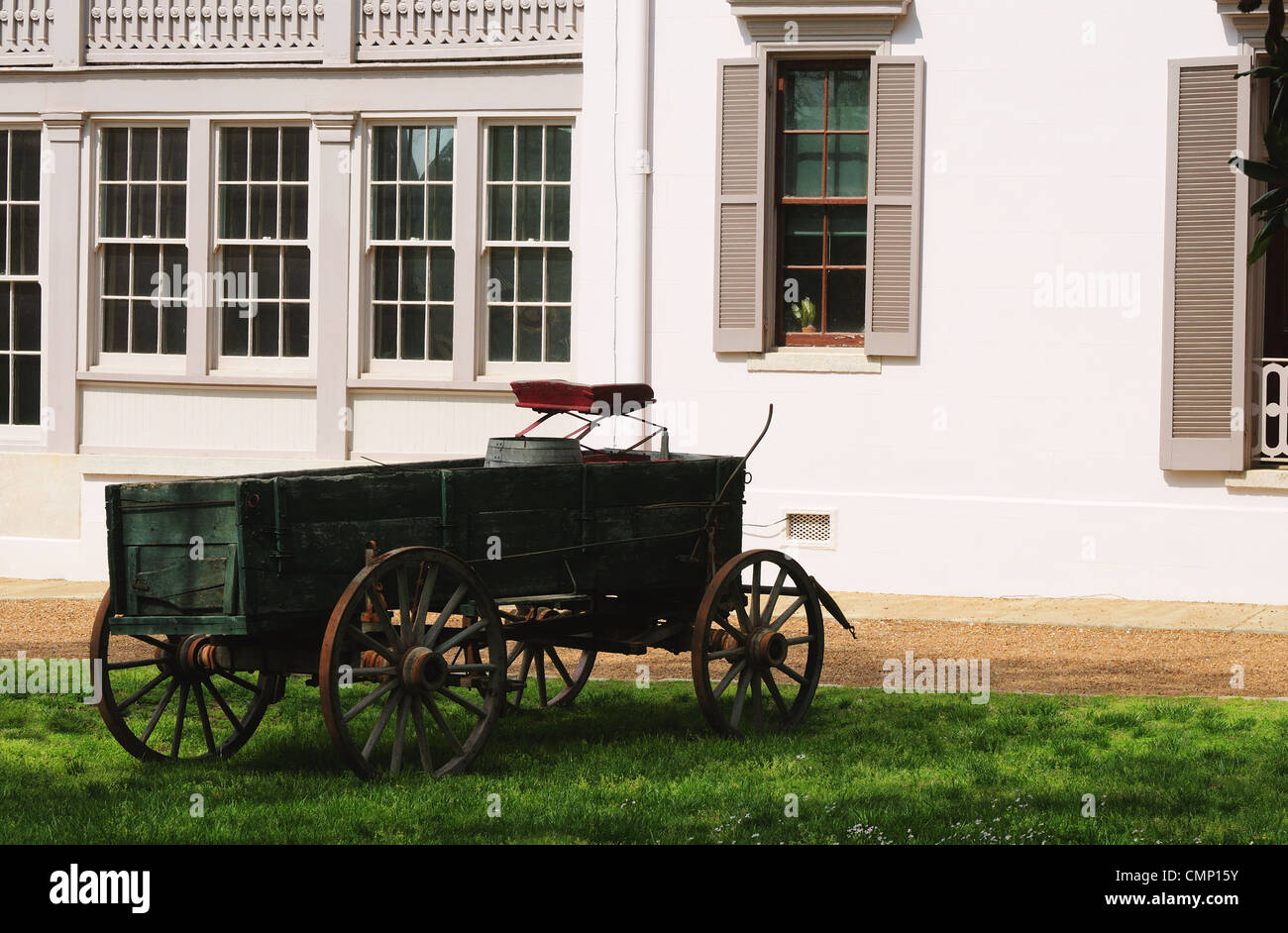 19th century wagon at the Belle Meade Plantation - Stock Image