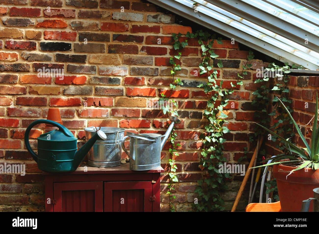 Potting shed - Stock Image