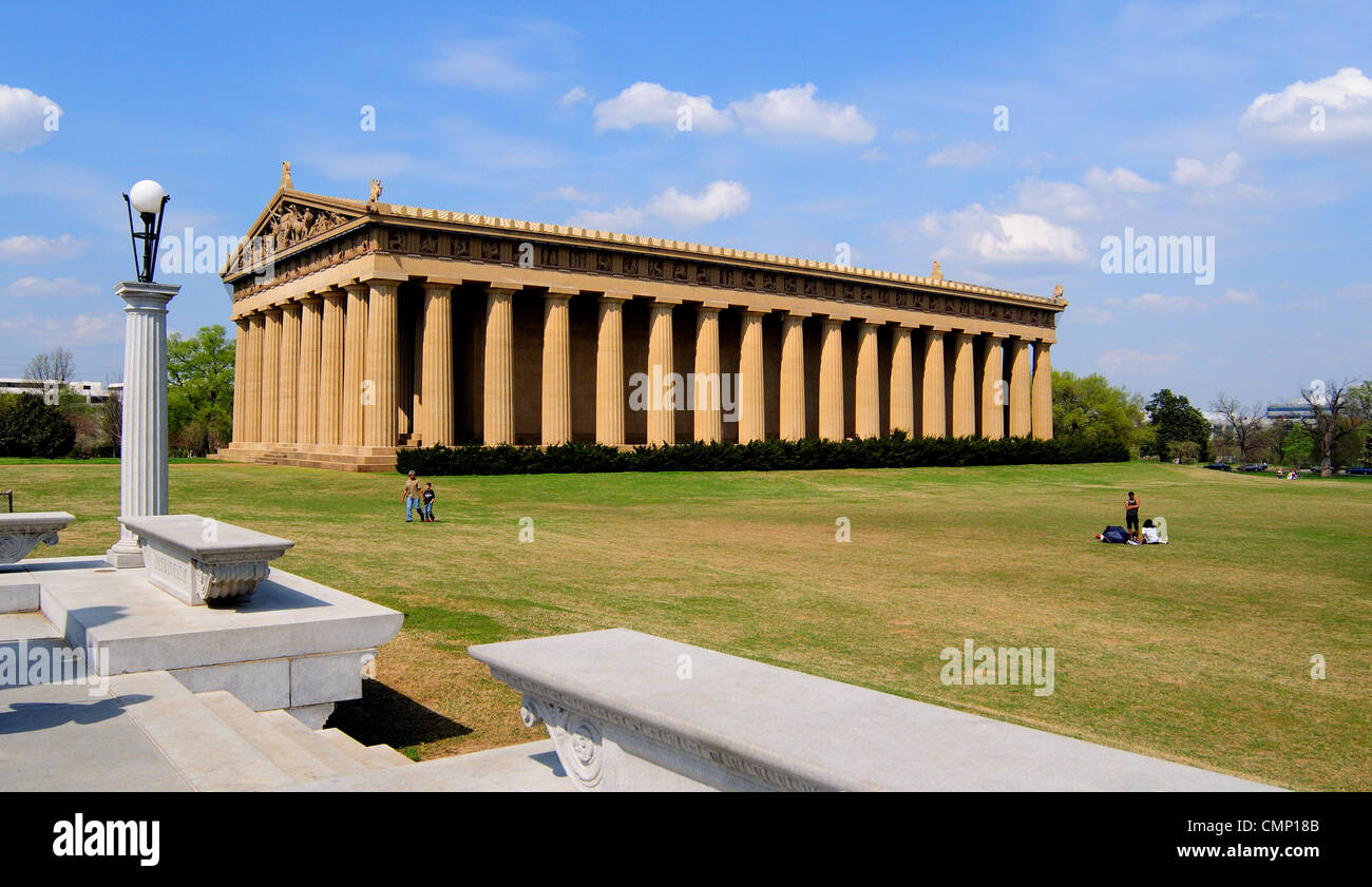 A full size replica of the Parthenon in Nashville, Tennessee - Stock Image