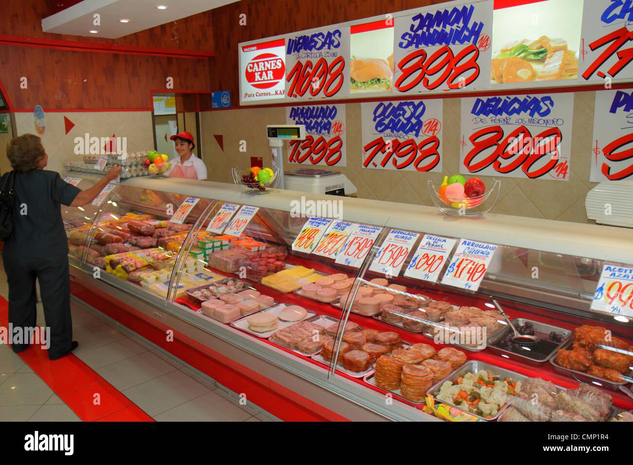 Chile Arica Paseo Peatonal 21 De Mayo Business Shopping Carnes Kar Deli Delicatessen Counter Cold Cuts Ham Salads Cheese Prepare