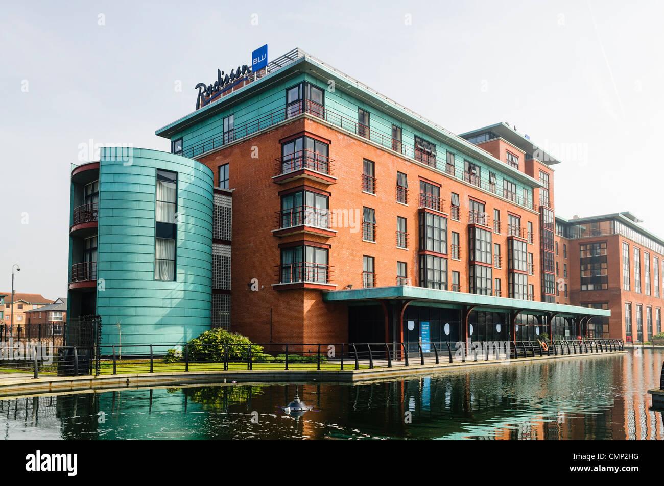 Radisson Blu Hotel, Belfast Gasworks - Stock Image