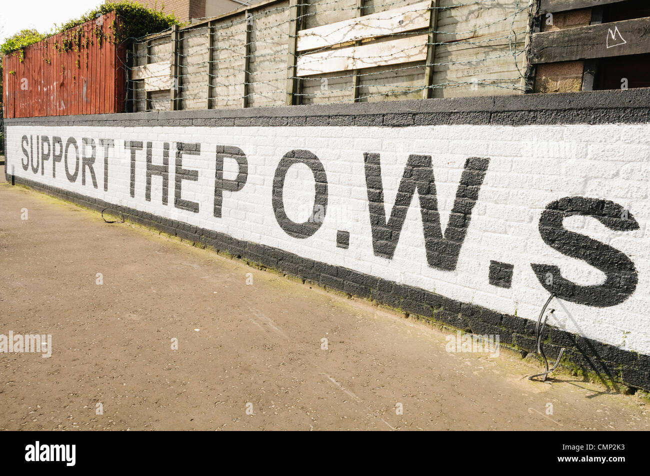 Mural for Irish Republican Political Prisoners Stock Photo