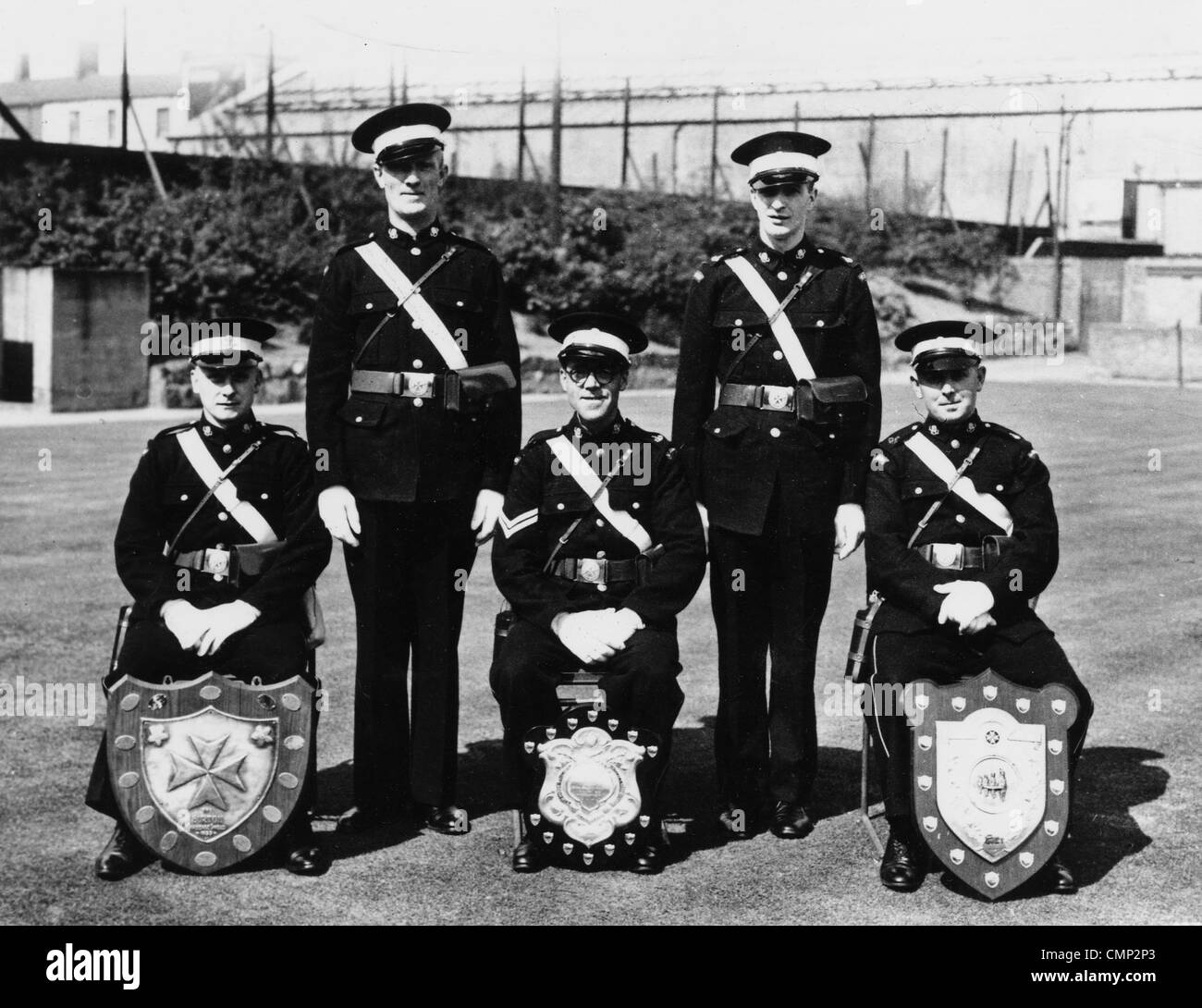 St. John's Ambulance Brigade, GKN Sankey, Wolverhampton, 1946. The Brigade in Bilston - winners of the Burton Shield Stock Photo