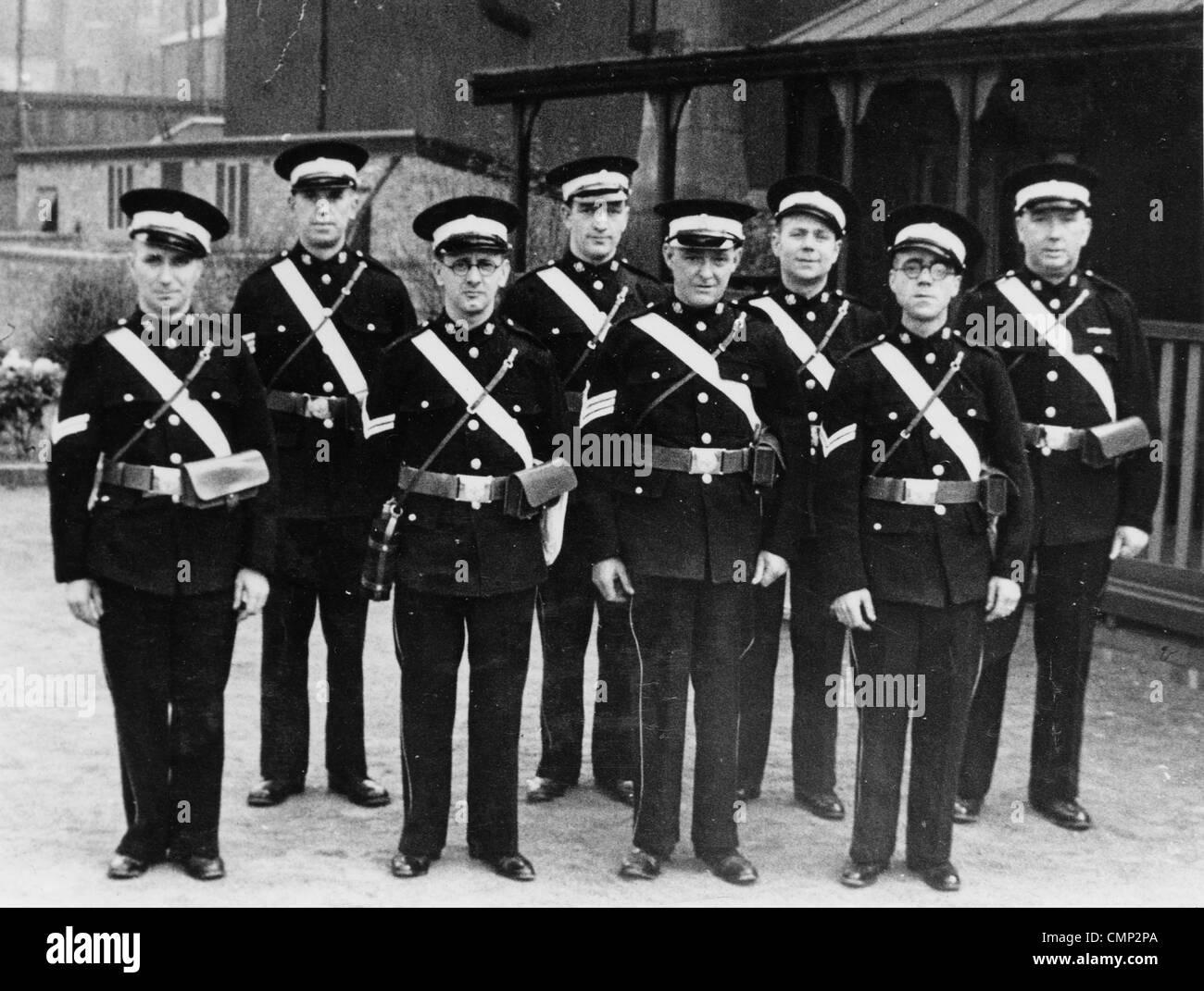 St. John's Ambulance Brigade, GKN Sankey, Wolverhampton, 1940. The Brigade in Bilston. They were part of the Sankey Stock Photo