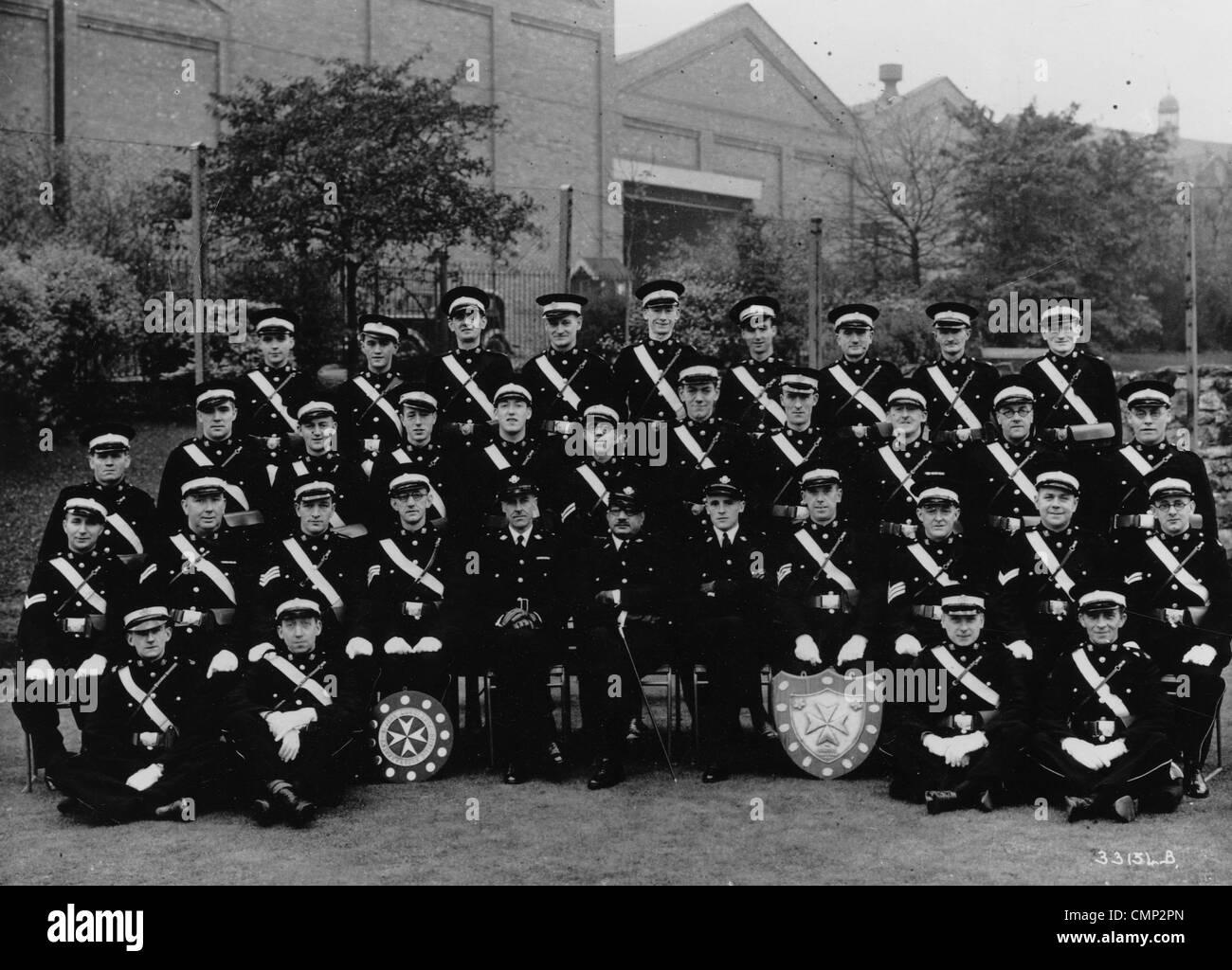 St. John's Ambulance Brigade, GKN Sankey, Wolverhampton, 1940s. The Brigade in Bilston. They were part of the Sankey Stock Photo
