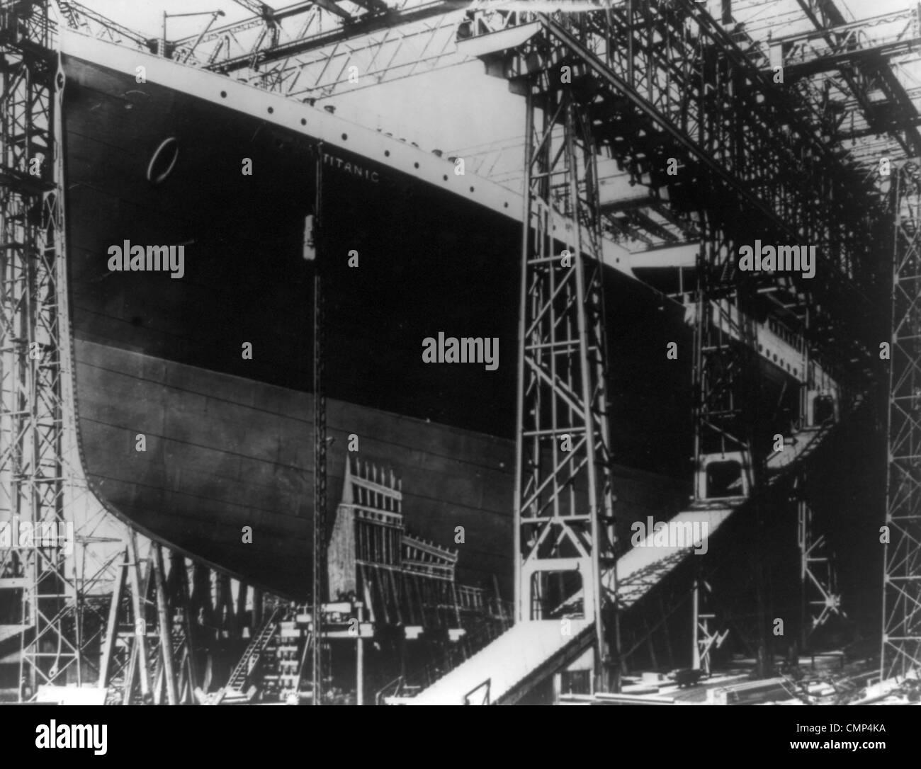 The Titanic in dry dock - Stock Image