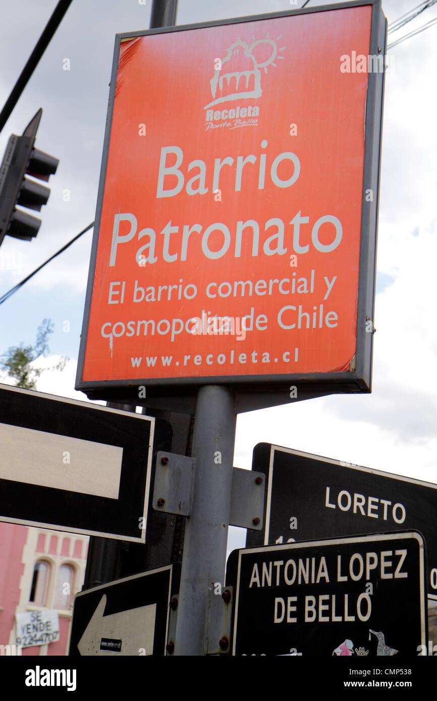 e2758d649ca8 Santiago Chile Barrio Patronato Avenida Santa Maria immigrant Stock ...