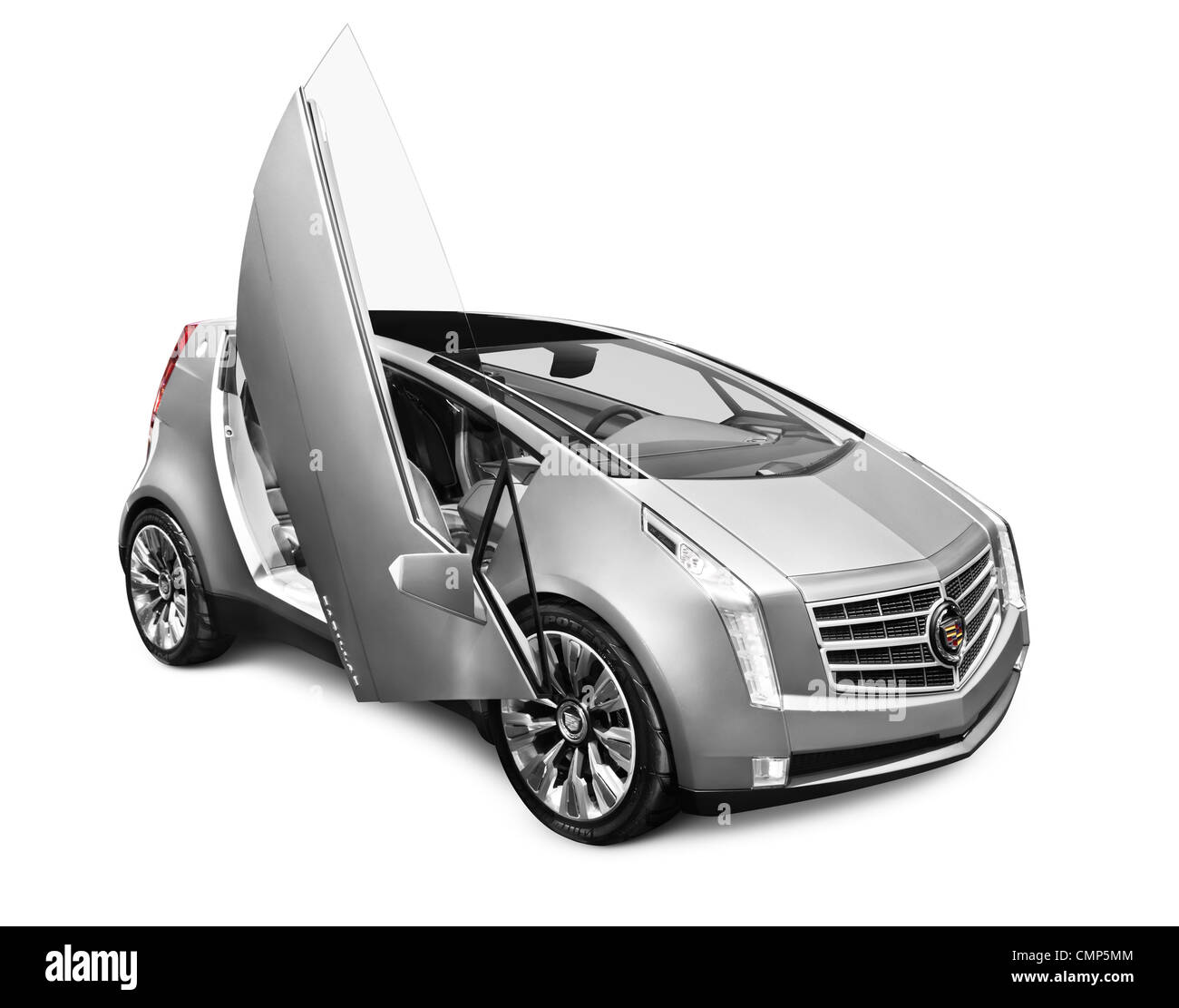 2011 Cadillac ULC Urban Luxury Concept car with scissor doors isolated on white background with clipping path - Stock Image