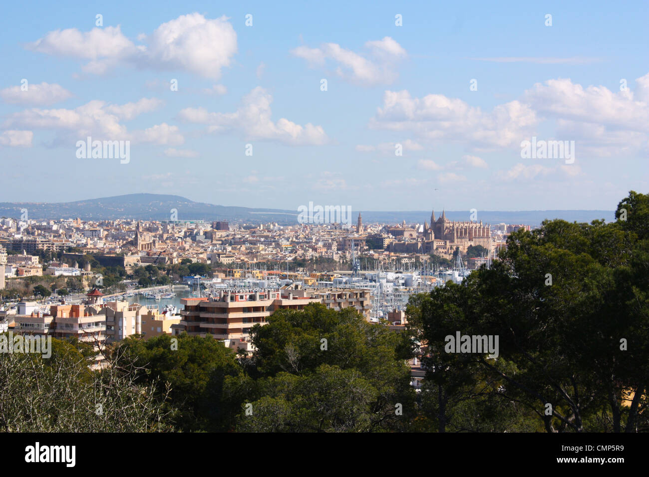 City view of Palma De Mallorca, Spain Stock Photo
