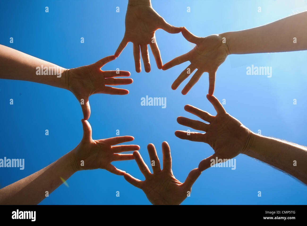sky and hands - Stock Image