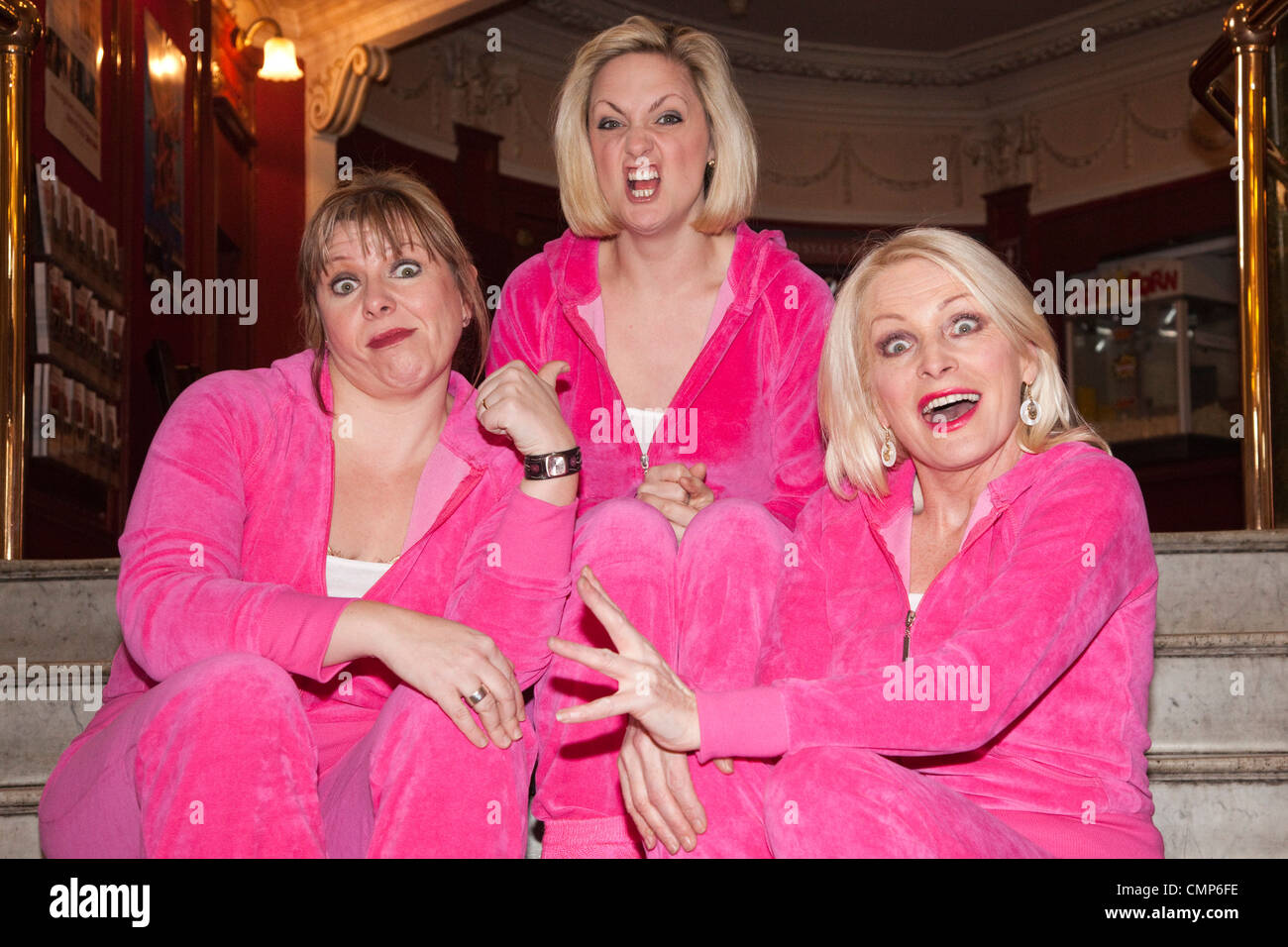 Hormonal Housewives' a comedy starring Margi Clarke, Laura Checkley and Julie Coombe, start of UK tour. - Stock Image
