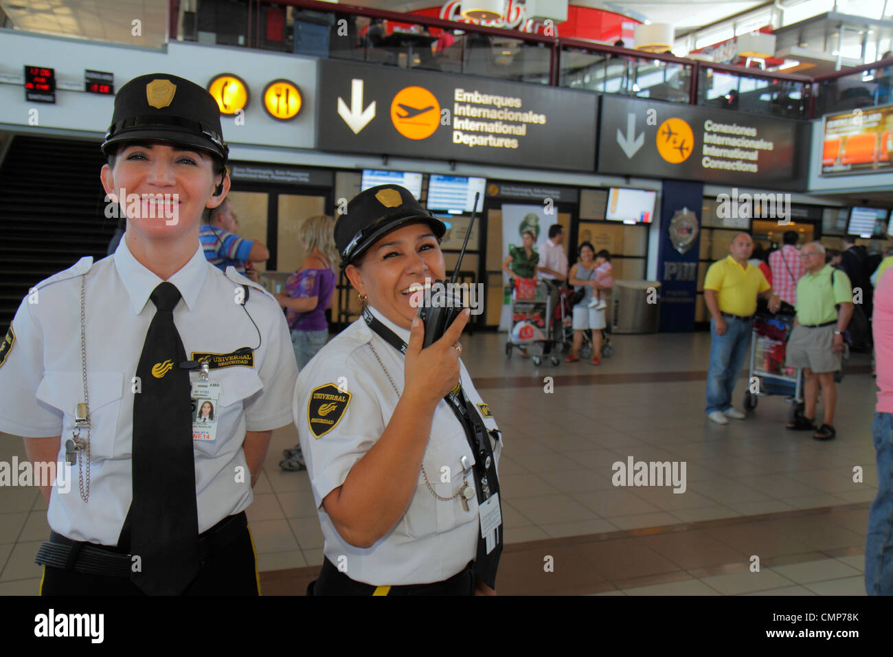 Santiago Chile Comodoro Arturo Merino Benítez International Airport SCL aviation passenger terminal Hispanic - Stock Image