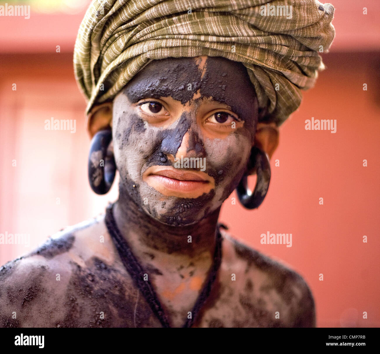 Indian holy man belonged to the Nath division of sadhus - Stock Image