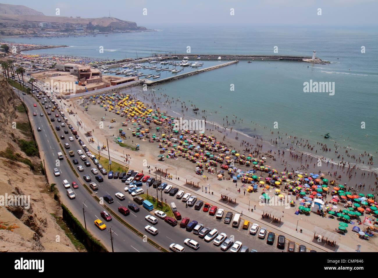 Peru Lima Barranco District Malecon Circuito De Playas Playa Los Stock Photo Alamy