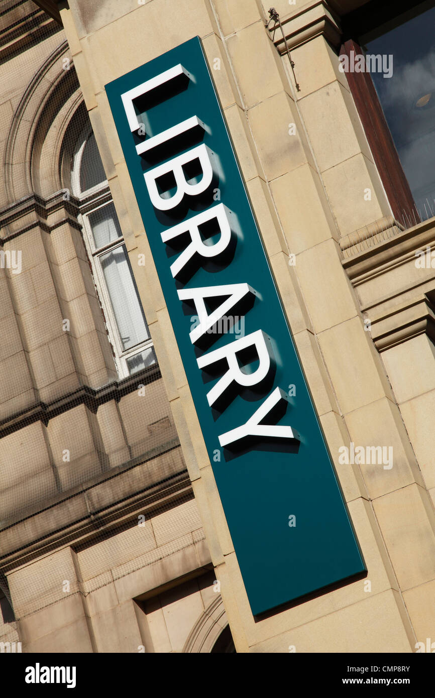 A public library in Leeds, England, U.K. - Stock Image