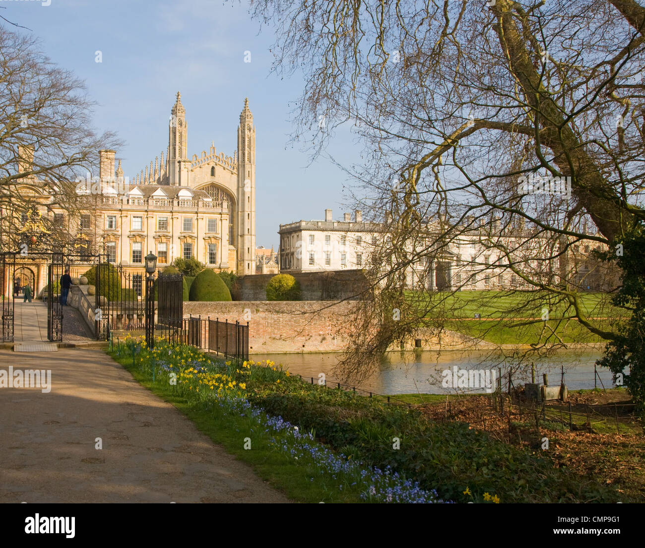 Clare and King's colleges, University of Cambridge, England - Stock Image