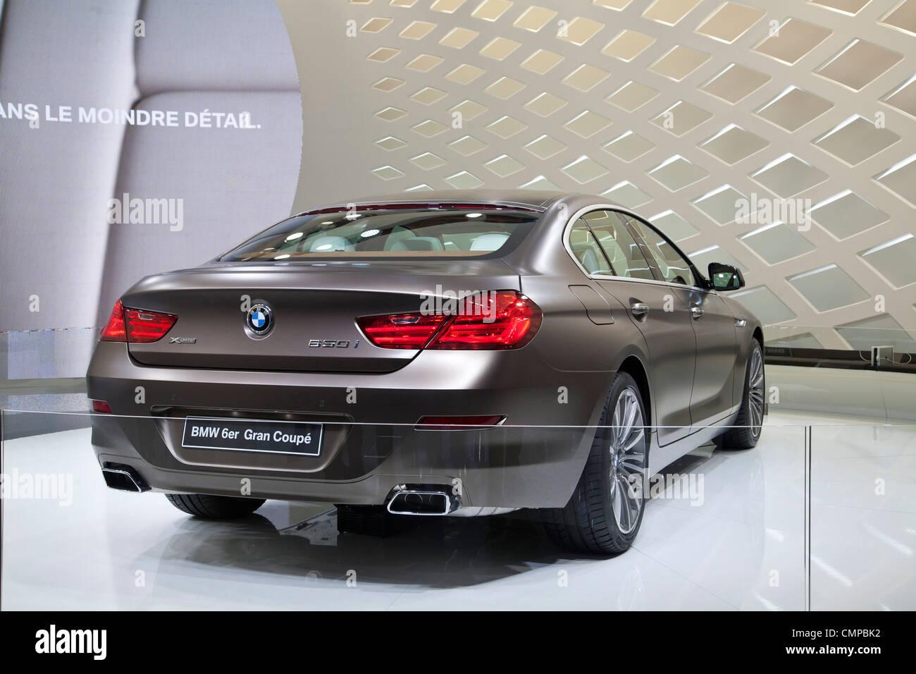 BMW 6er Gran Coupe at the Geneva Motor Show 2012 - Stock Image
