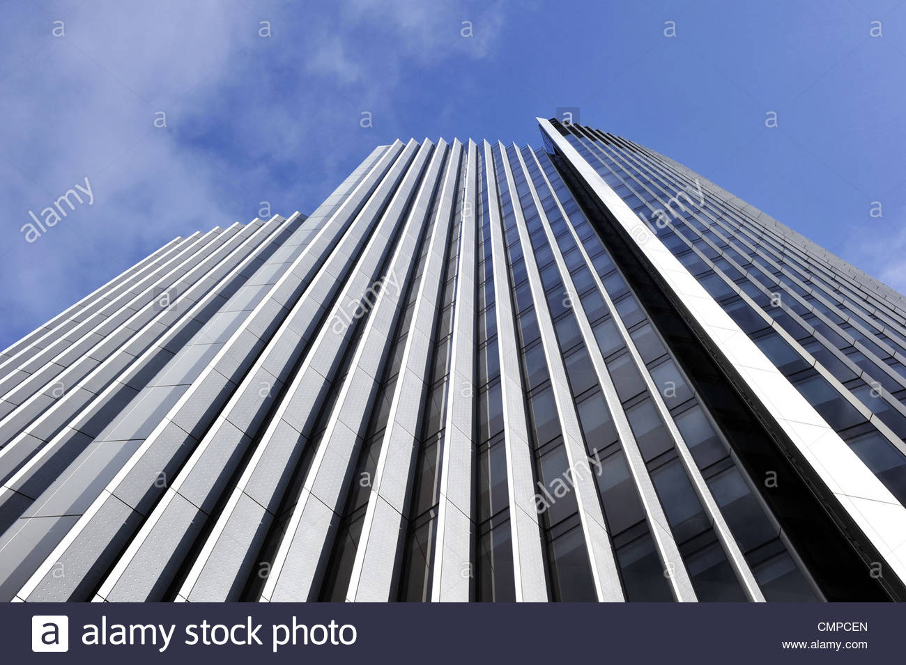 Willis Building - modern office architecture detail, City of London UK - Stock Image