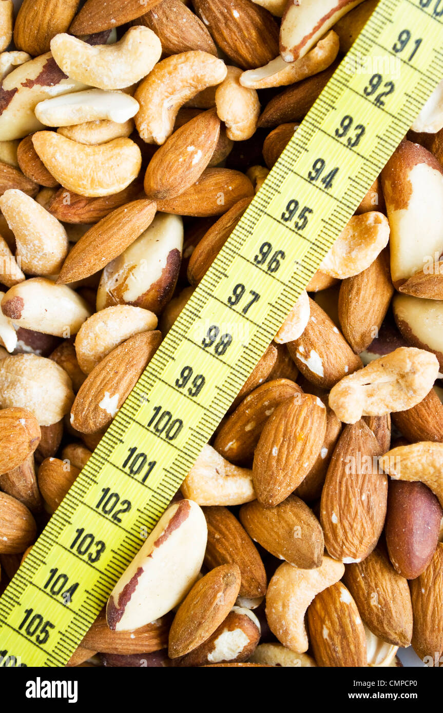 Background of mixed nuts  - Stock Image