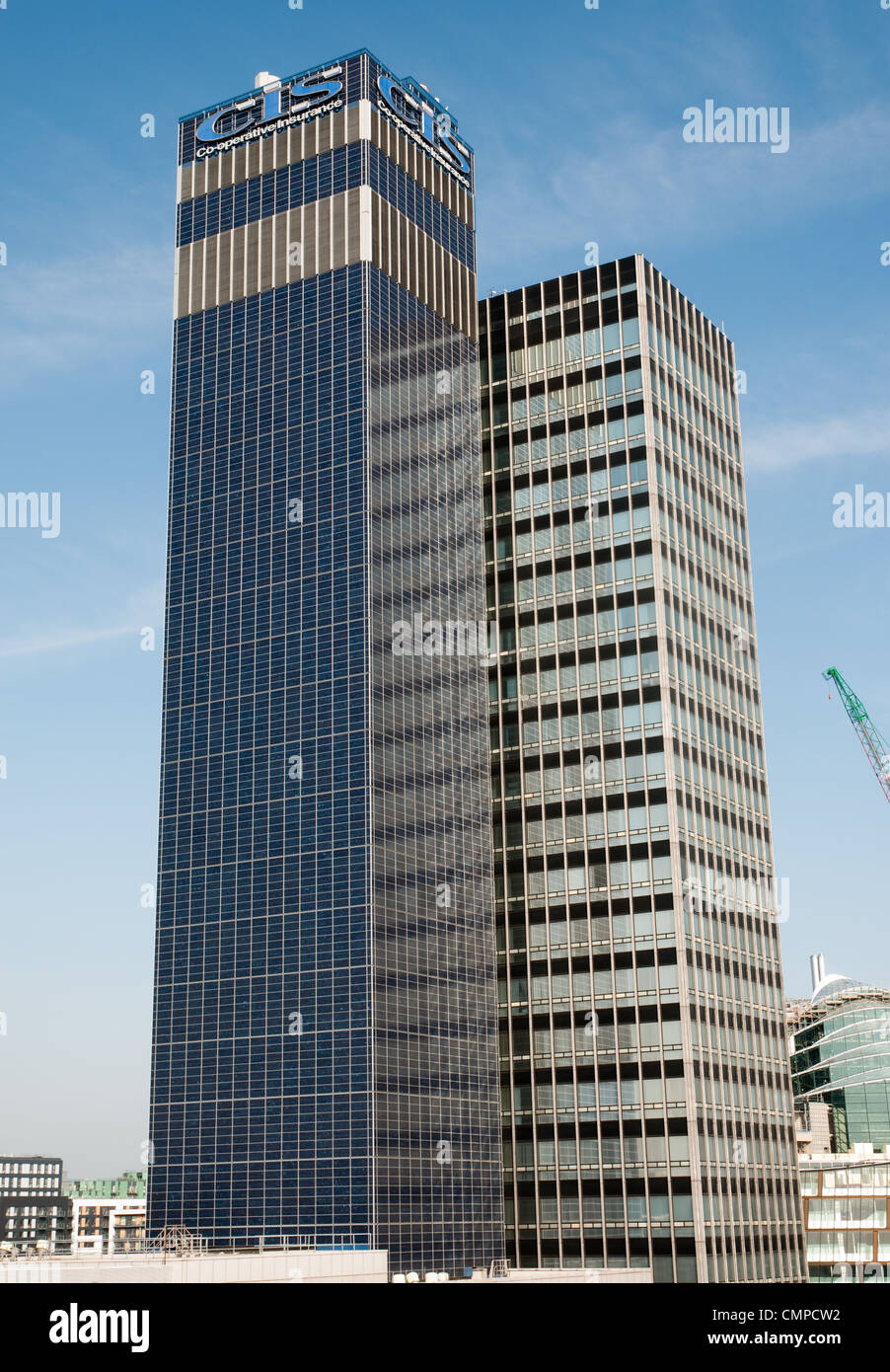 CIS Building in  Manchester city centre, completed in 1962, Grade II listed. - Stock Image
