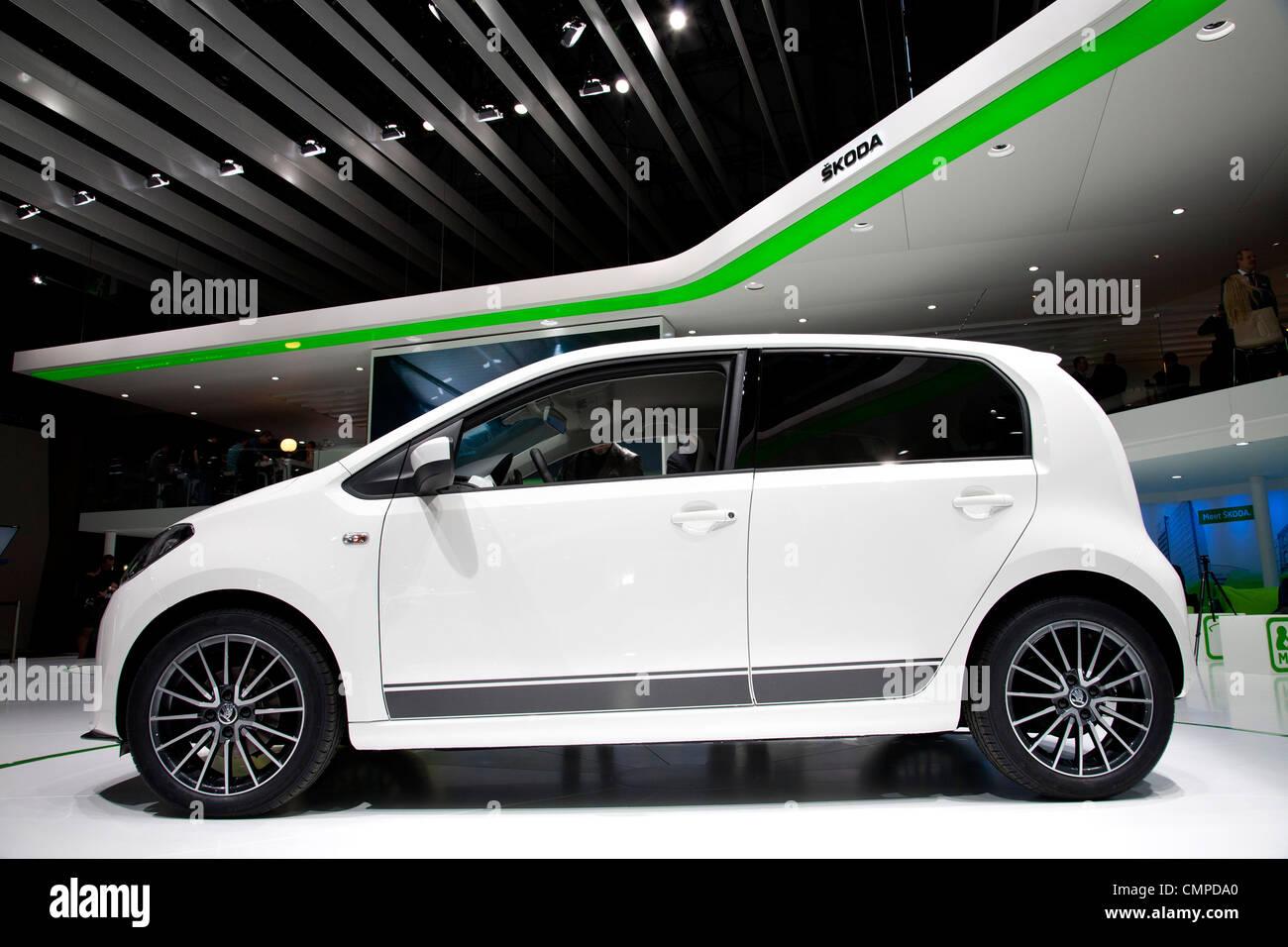 Skoda Citigo at the Geneva Motor Show 2012 - Stock Image