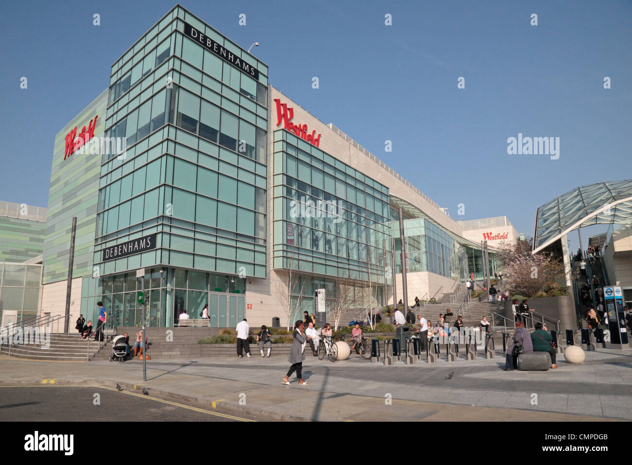 The Westfield London Shopping Centre in Shepherds Bush in London. - Stock Image